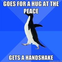 Socially Awkward Penguin at church