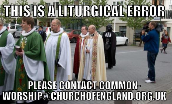 This is a liturgical error