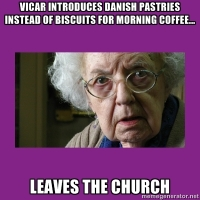 Danish Pastries at church, what will they think of next?