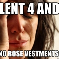 Anglo-catholic first world problem - dedicated to @frsimon Lent 4...