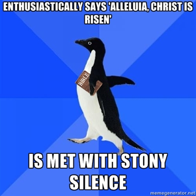 easter socially awkward