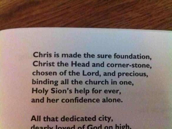 Chris is made the sure foundation