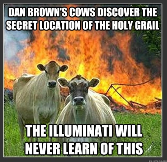 How now, Dan Brown's cow?