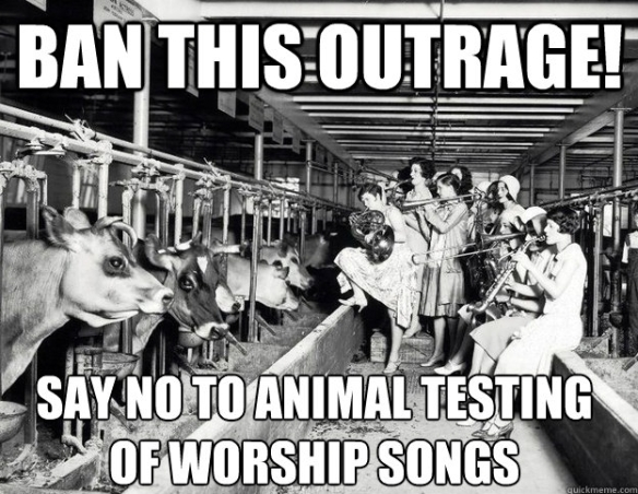 Against animal testing in church music #1