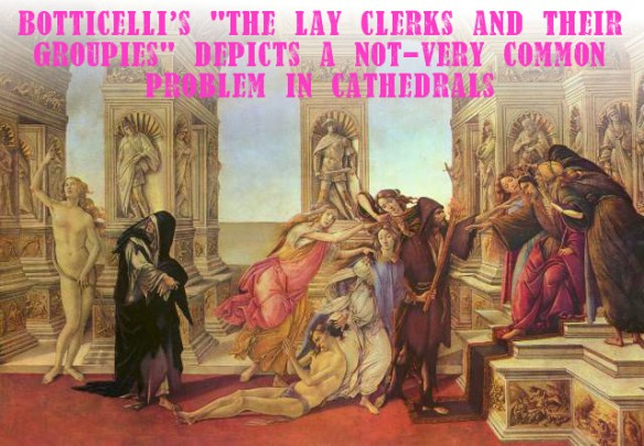 Botticelli depicts a problem no longer faced by church choirs