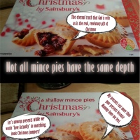 Not all mince pies have the same depth