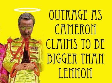 Outrage as Cameron claims to be...